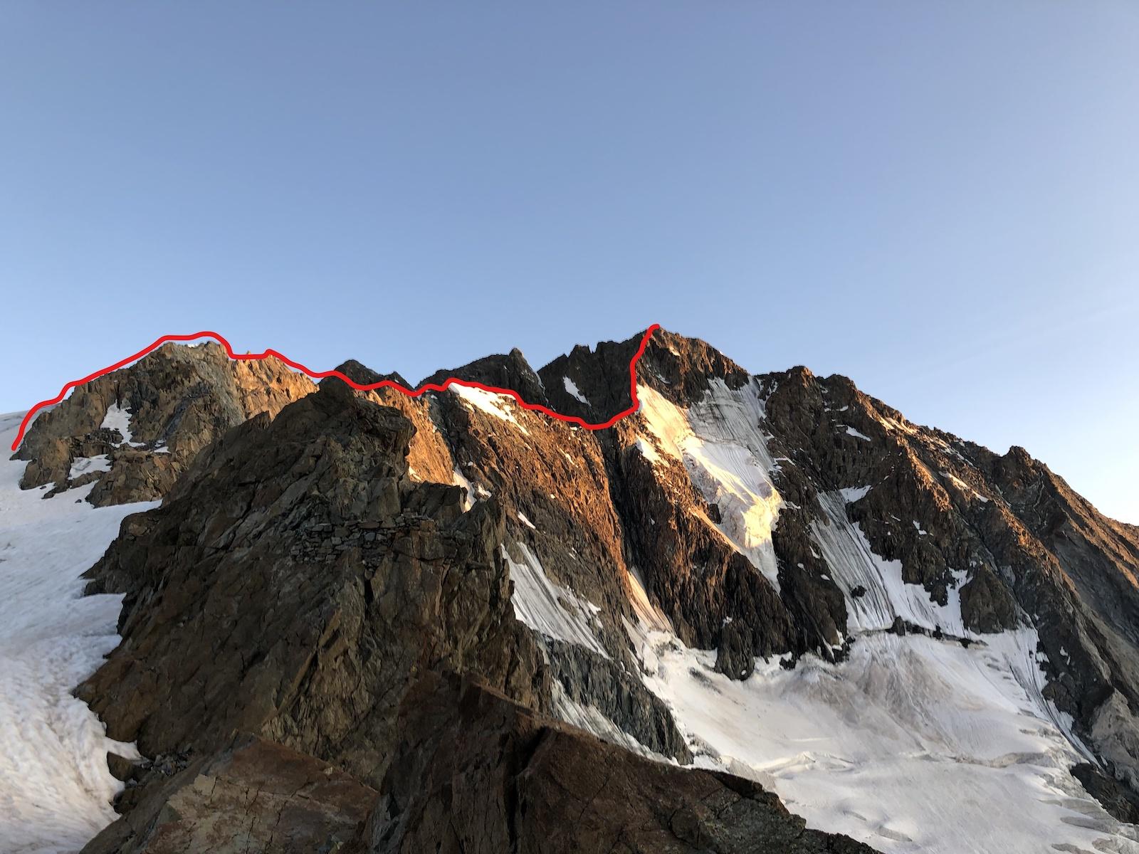monte Disgrazia m 3.678 attraverso la Corda Molla