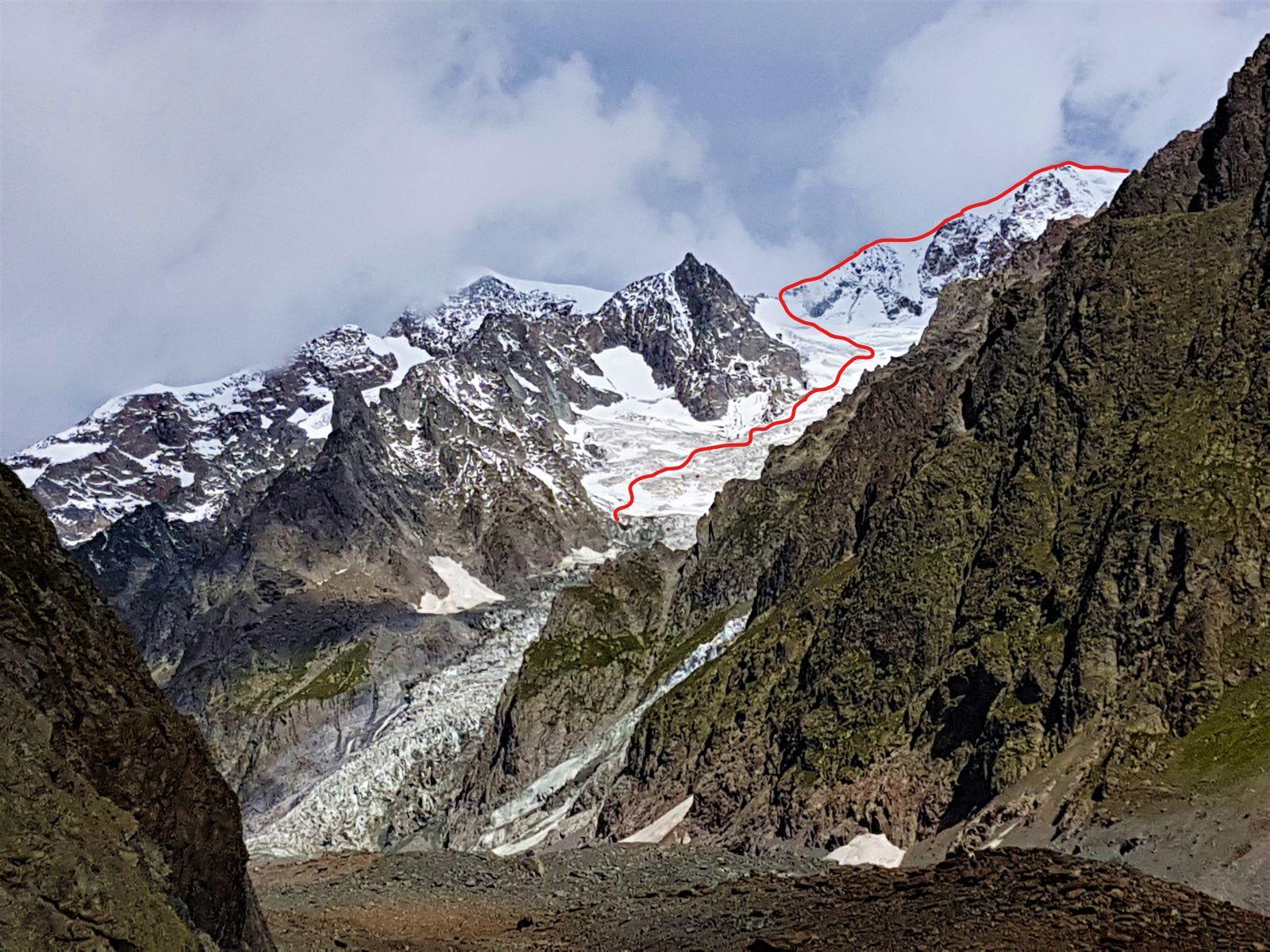monte Bianco m 4.810 dal rifugio Gonella