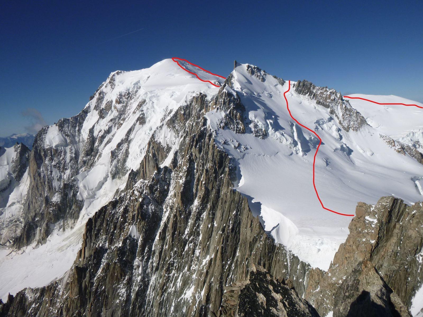 monte Bianco m 4.810 dal rifugio Cosmiques